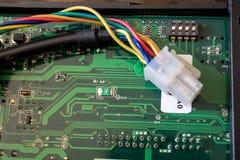 PWB verde con i micro commutatori Fotografia Stock