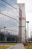 PWC RBS and Huawei building Stock Images