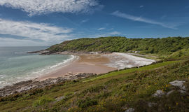 Pwll Du bay Gower peninsular. Pwll Du Bay on the gower peninsular in south Wales was once an extensive limestone quarry and also a popular smuggling cove Royalty Free Stock Photography