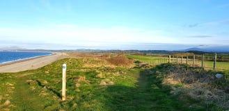 Pwllheli Wales Północna nabrzeżna ścieżka, UK obraz royalty free