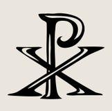 PX标志耶稣,艺术传染媒介设计阁下 免版税库存图片