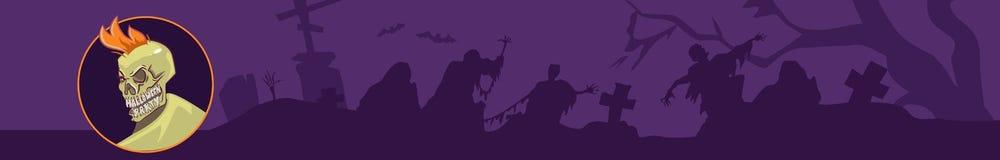 Px dell'insegna 2816x 450 di Halloween royalty illustrazione gratis