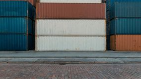 Stack of Containers stock photos