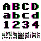 Pxiel font Stock Images