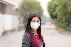 Pył ochrony maska, bezpieczeństwo maska fotografia stock