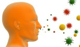 pyłek na alergię ilustracja wektor