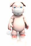 pyłu maski świni pozycja Zdjęcia Royalty Free
