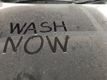 Pył na samochodzie window1 Obrazy Royalty Free