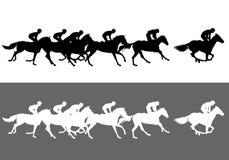 pyatigorsk лошади hippodrome caucasus северное участвуя в гонке Россия иллюстрация штока