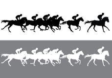 pyatigorsk лошади hippodrome caucasus северное участвуя в гонке Россия бесплатная иллюстрация