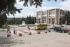 Pyatigorsk, Россия Улица Kozlov, тихая жизнь курорта Стоковое Изображение
