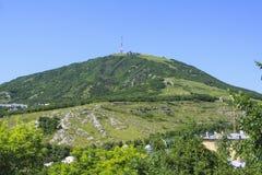 Pyatigorsk Mening van Mashuk-berg Royalty-vrije Stock Afbeeldingen