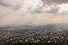 Pyatigorsk from the mountain Mashuk Royalty Free Stock Images