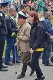 PYATIGORSK, RÚSSIA - 9 DE MAIO DE 2017: Veteranos com medalhas A celebração de Victory Day fotografia de stock royalty free