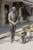 PYATIGORSK ROSJA, Sierpień, - 2, 2015: Pomnikowy Kisa Vorobyaninov który błaga dla datków w Pyatigorsk Obraz Stock