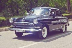 PYATIGORSK, RUSIA - 9 DE MAYO DE 2017: coche retro soviético clásico GAZ-21 Volga Imagenes de archivo