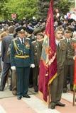 PYATIGORSK, RUSIA - 9 DE MAYO DE 2014: Victory Day en WWII Estándar-b Imágenes de archivo libres de regalías