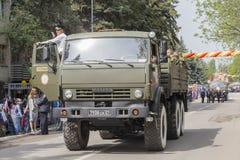 PYATIGORSK, RUSLAND - MEI 9 2014: Victory Day in WO.II Kolom van Royalty-vrije Stock Afbeeldingen