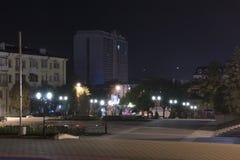 Pyatigorsk, Rusland Vierkant dichtbij de centrale stadsbibliotheek Royalty-vrije Stock Afbeelding