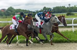 Horse racing for the prize of Aeolian Harp in Pyatigorsk. Royalty Free Stock Images
