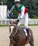 Horse racing for the prize of Budennogo in Pyatigorsk. Royalty Free Stock Photography