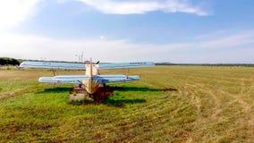 PYATIGORSK, RUSSIA - July 08, 2018: Airplanes antonov An-2 parked on field before airshow. PYATIGORSK, RUSSIA - July 08, 2018: Airplanes antonov An-2 parked on a royalty free stock images