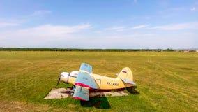 PYATIGORSK, RUSSIA - July 08, 2018: Airplanes antonov An-2 parked on field before airshow. PYATIGORSK, RUSSIA - July 08, 2018: Airplanes antonov An-2 parked on a stock images