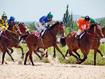 PYATIGORSK,RUSSIA - JULY 7: race for the Big prize OaKS on July Royalty Free Stock Photography