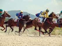 PYATIGORSK,RUSSIA - JULY 7: race for the Big prize OaKS on July Royalty Free Stock Photo