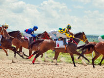 PYATIGORSK,RUSSIA - JULY 7: race for the Big prize OaKS on July Royalty Free Stock Image