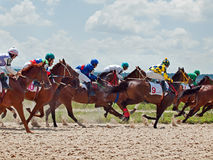 PYATIGORSK,RUSSIA - JULY 7: race for the mares Big prize OaKS on Stock Photography