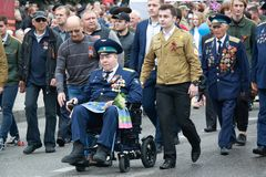 Pilots of the Air Force. Victory Day in Pyatigorsk, Russia Royalty Free Stock Photo