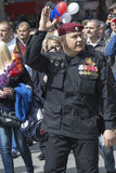 PYATIGORSK, RUSSIA - MAY 9 2014: Victory Day in WWII. SWAT (SOBR Royalty Free Stock Images