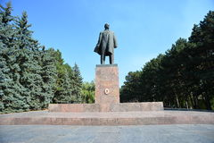 Pyatigorsk- Russia's jewel. Among the numerous Pyatigorsk monuments the Lenin monument is a bit unique. For more than 60 decades of Communist rule – since 1917 Royalty Free Stock Image