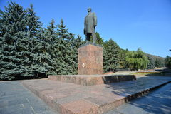 Pyatigorsk- Russia's jewel. Among the numerous Pyatigorsk monuments the Lenin monument is a bit unique. For more than 60 decades of Communist rule – since 1917 Royalty Free Stock Images