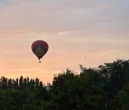 Pyatigorsk- Russia's jewel. RESUBMITTED AFTER DREAMSTIME COMMENTARY: In September, the hot air balloons are a common sight elsewhere in Pyatigorsk. Some of Royalty Free Stock Photography