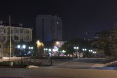 Pyatigorsk, Russia. Square near the central city library Royalty Free Stock Image