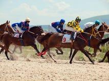 PYATIGORSK, RUSSLAND - 7. JULI: Rennen für die großen prize Eichen im Juli Lizenzfreies Stockbild