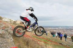 PYATIGORSK, RUSSLAND - 26. NOVEMBER 2017: Motorrad Das entscheidende Rennen Die Nord-Kaukasus-Schale auf moto Versuch Ein von Stockfoto