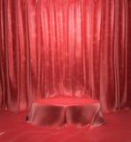 Pyatistal ha coperto di passaggio rosso del panno royalty illustrazione gratis