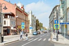 Pyatnitskaya street in Moscow after rebuilding Royalty Free Stock Photo