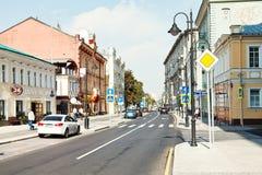 Pyatnitskaya street in Moscow after reconstruction Stock Photography
