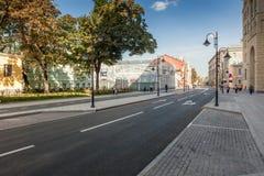 Pyatnitskaya street after renovation, Moscow, Russia Royalty Free Stock Photo