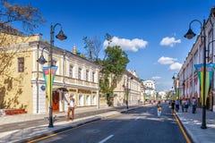 Pyatnitskaya street after renovation, Moscow, Russia Royalty Free Stock Photos