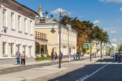 Pyatnitskaya street after renovation, Moscow, Russia Stock Photo