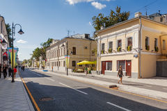 Pyatnitskaya street after renovation, Moscow, Russia Stock Images