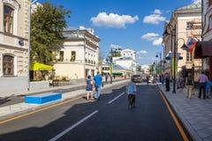 Pyatnitskaya street after renovation, Moscow, Russia Stock Photography