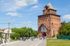 Pyatnitskaya tower - historical city gate, part of Kolomna kreml Royalty Free Stock Photos