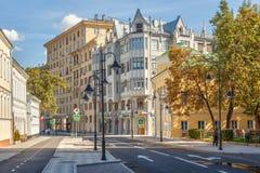 Pyatnitskayastraat na vernieuwing, Moskou, Rusland royalty-vrije stock fotografie
