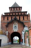 Pyatnitskie bramy główne bramy Kolomna Kremlin, Rosja obrazy royalty free